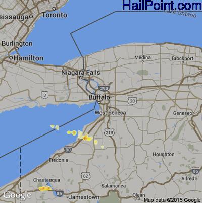 Hail Map for Buffalo, NY Region on May 2, 2012