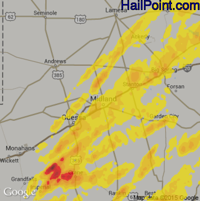 Hail Map for Midland, TX Region on May 7, 2014