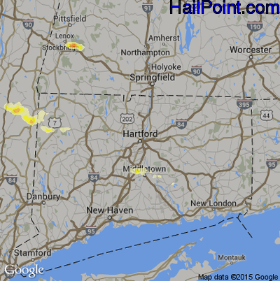 Hail Map for Hartford, CT Region on May 20, 2015