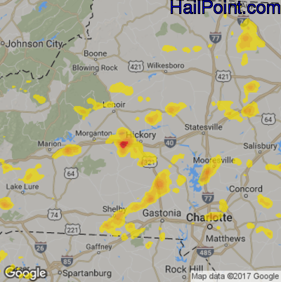 Hickory Nc Zip Code Map.Hail Point Maps